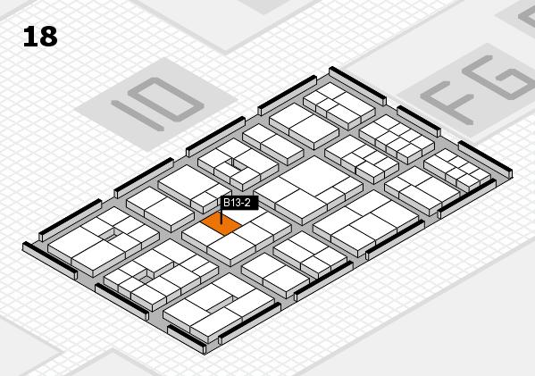 EuroShop 2017 hall map (Hall 18): stand B13-2