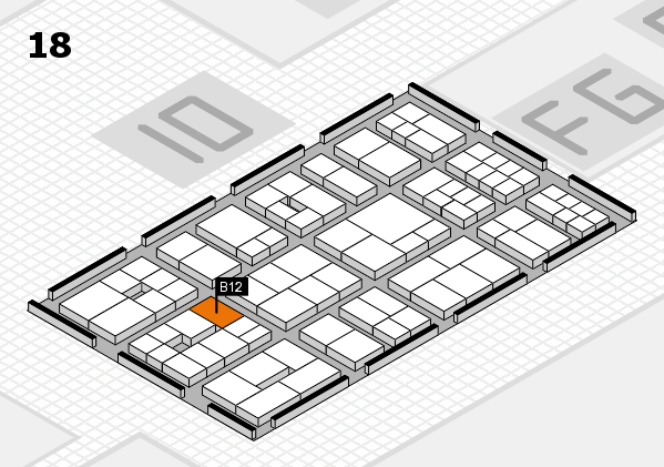 EuroShop 2017 hall map (Hall 18): stand B12