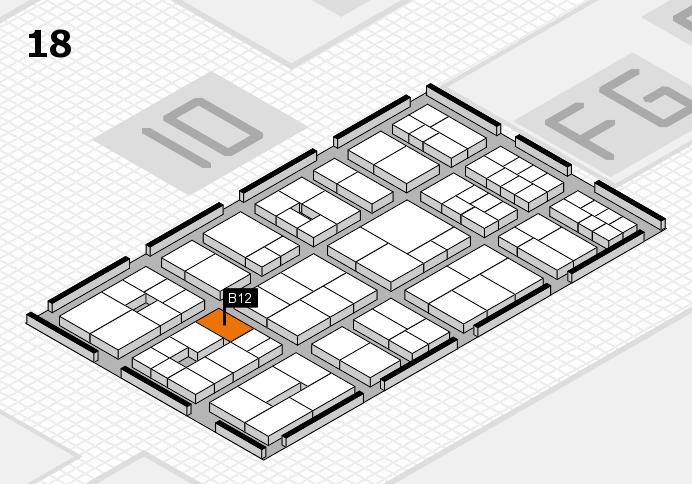 EuroShop 2017 hall map (Hall 18): stand B12