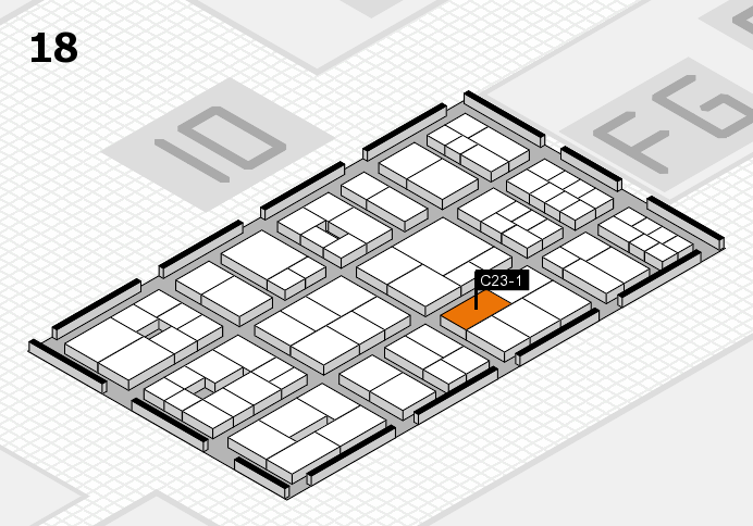 EuroShop 2017 hall map (Hall 18): stand C23-1