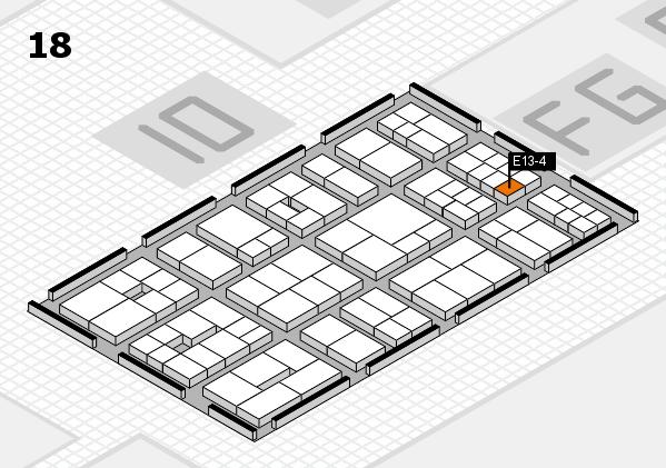 EuroShop 2017 hall map (Hall 18): stand E13-4