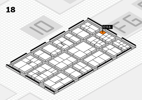 EuroShop 2017 hall map (Hall 18): stand E13-8