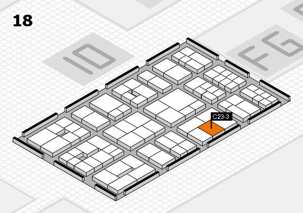 EuroShop 2017 hall map (Hall 18): stand C23-3