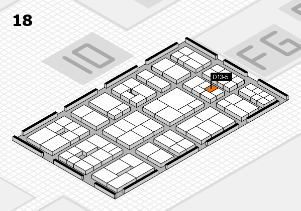 EuroShop 2017 hall map (Hall 18): stand D13-5