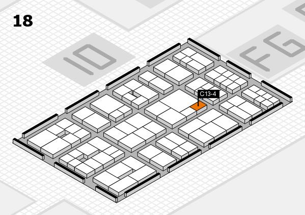 EuroShop 2017 hall map (Hall 18): stand C13-4