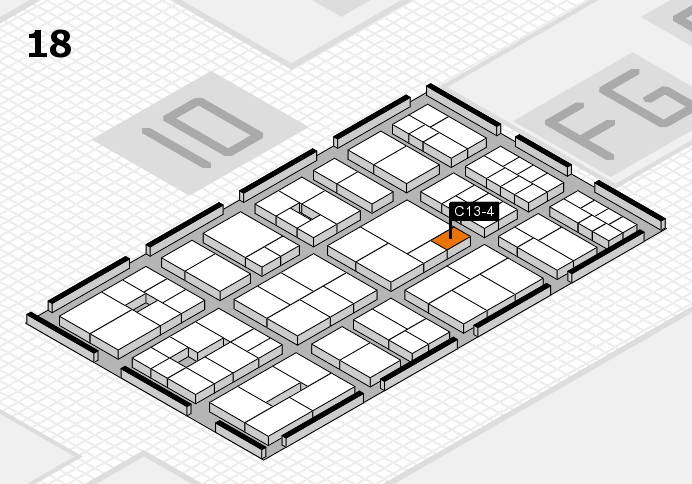 EuroShop 2017 hall map (Hall 18): stand C13-4