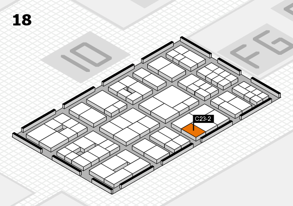 EuroShop 2017 hall map (Hall 18): stand C23-2