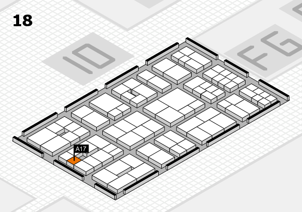 EuroShop 2017 hall map (Hall 18): stand A17