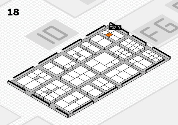 EuroShop 2017 hall map (Hall 18): stand E02-D