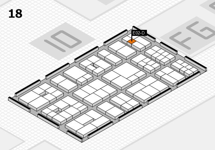 EuroShop 2017 Hallenplan (Halle 18): Stand E02-D