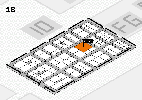 EuroShop 2017 hall map (Hall 18): stand C13-5