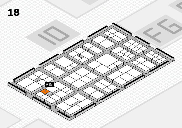 EuroShop 2017 hall map (Hall 18): stand A15