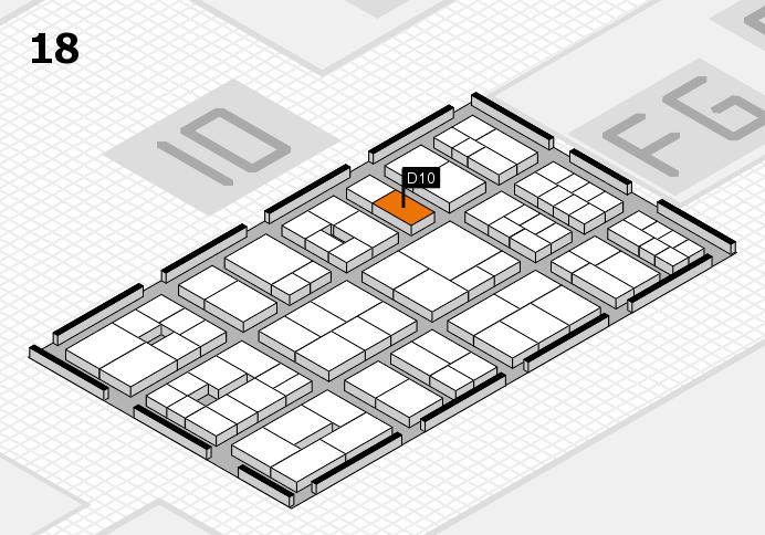 EuroShop 2017 hall map (Hall 18): stand D10