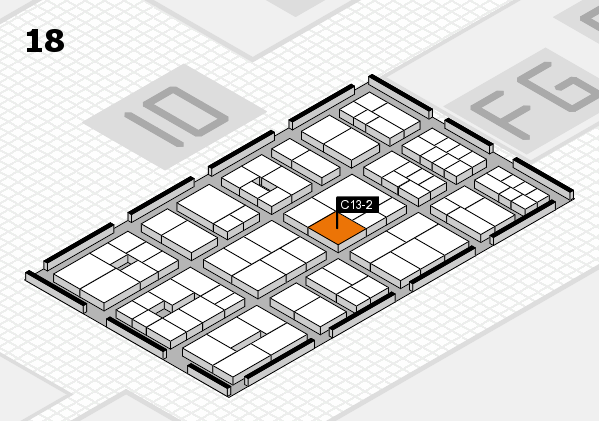 EuroShop 2017 hall map (Hall 18): stand C13-2