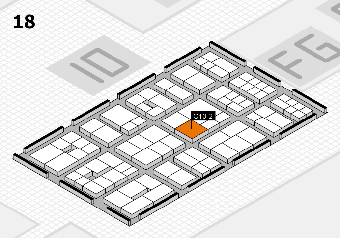 EuroShop 2017 hall map (Hall 18): stand C13-2