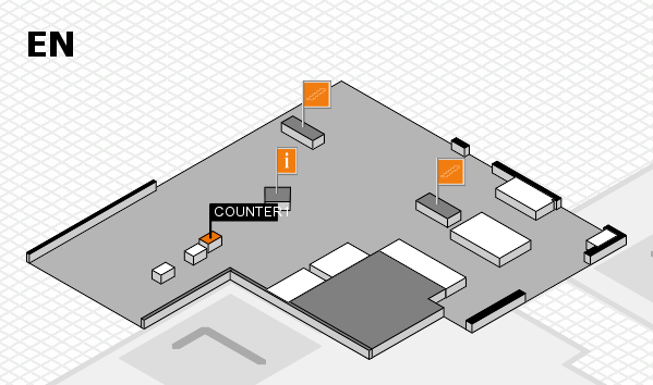 EuroShop 2017 hall map (North Entrance): stand COUNTER1