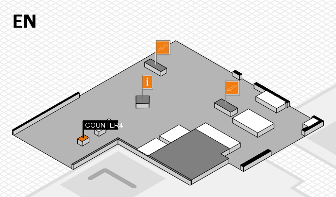 EuroShop 2017 hall map (North Entrance): stand COUNTER4