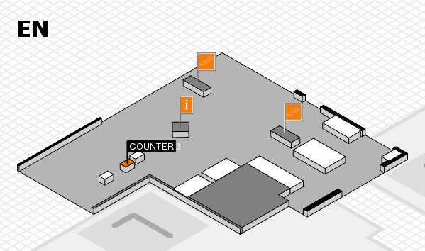 EuroShop 2017 hall map (North Entrance): stand COUNTER 3