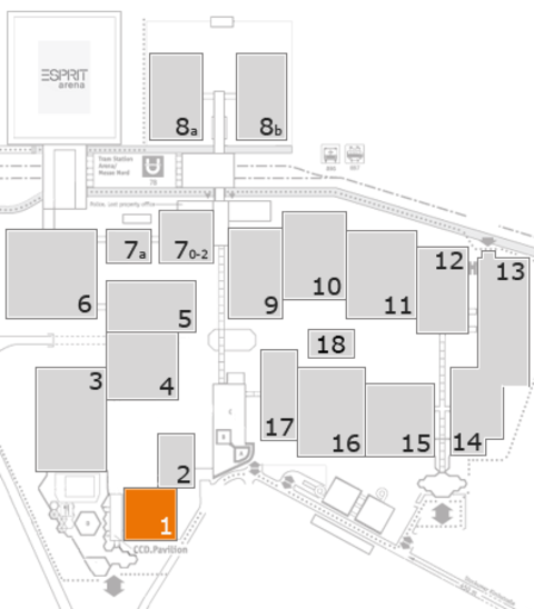 EuroShop 2017 fairground map: Hall 1
