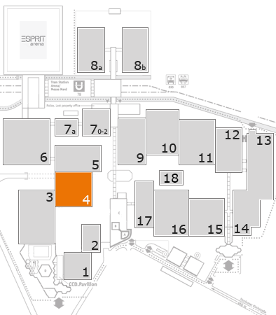 EuroShop 2017 fairground map: Hall 4