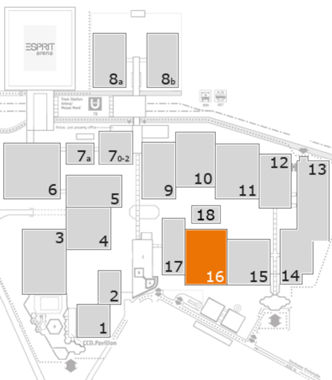 EuroShop 2017 fairground map: Hall 16