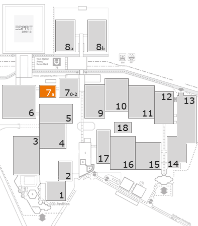 EuroShop 2017 fairground map: Hall 7a