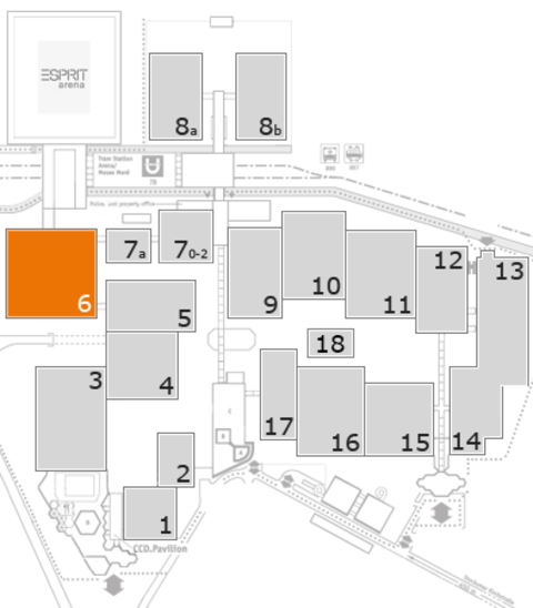 EuroShop 2017 fairground map: Hall 6