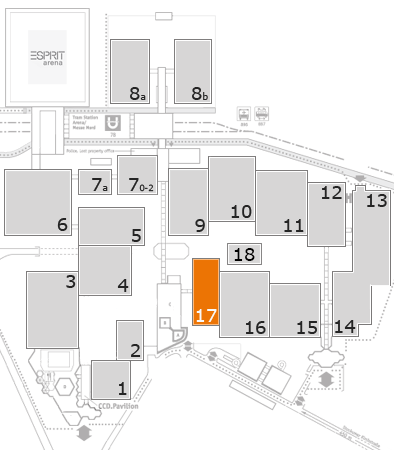 EuroShop 2017 fairground map: Hall 17