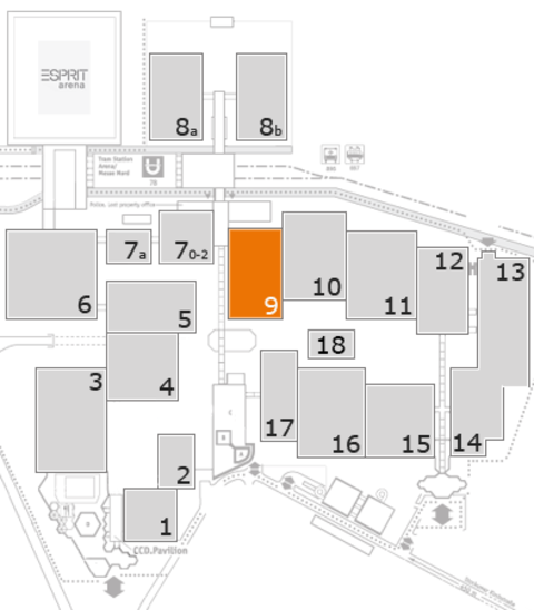 EuroShop 2017 fairground map: Hall 9
