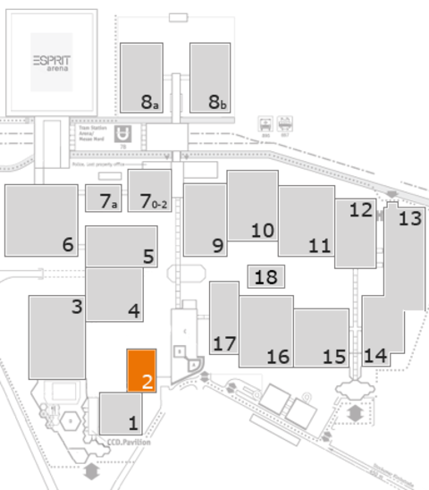 EuroShop 2017 fairground map: Hall 2