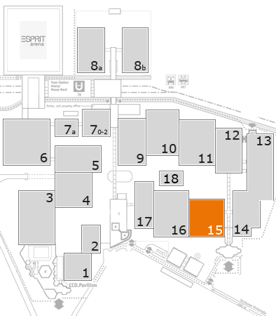 EuroShop 2017 fairground map: Hall 15