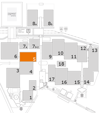 EuroShop 2017 fairground map: Hall 5