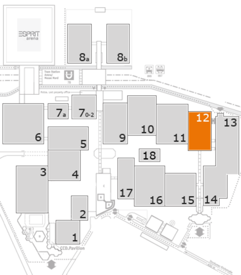 EuroShop 2017 fairground map: Hall 12
