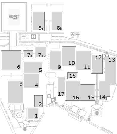 EuroShop 2017 Geländeplan: Eingang Nord B