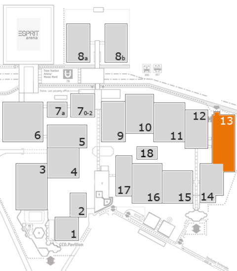 EuroShop 2017 fairground map: Hall 13