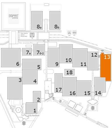 EuroShop 2017 Geländeplan: Halle 13