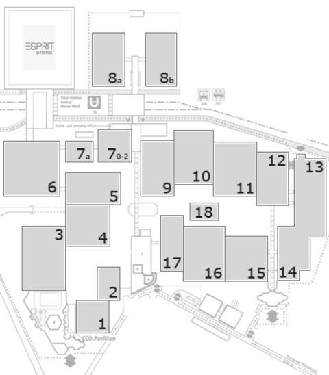 EuroShop 2017 fairground map: North Entrance
