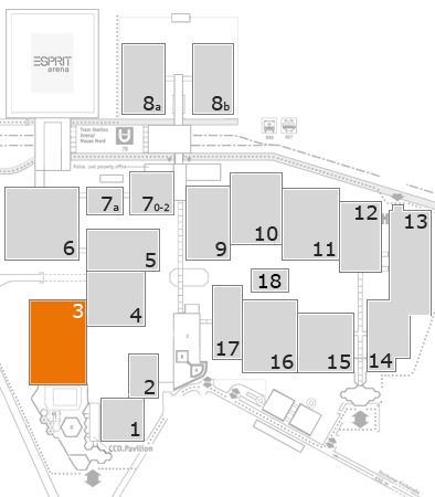 EuroShop 2017 fairground map: Hall 3