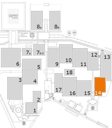 EuroShop 2017 fairground map: Hall 14