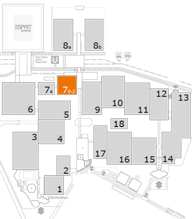 EuroShop 2017 fairground map: Hall 7