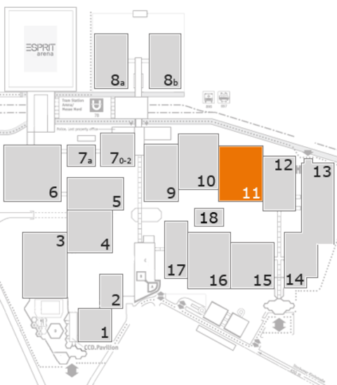 EuroShop 2017 fairground map: Hall 11