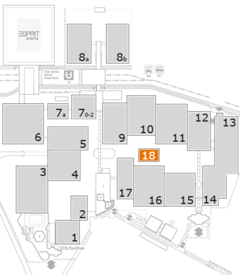EuroShop 2017 fairground map: Hall 18