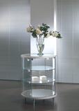 Tempered glass round showcase
