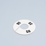 Round Divider White black numbers 586
