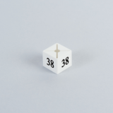 Cubic Size Divider for hanger white with black numbers