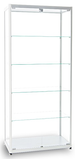 Diamond silver glass display cabinet