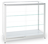 Ruby glass display counter