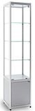 Diamond silver glass display cabinet with storage