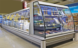 Designer glass cover for low refrigerated multidecks