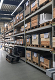 Heavy duty shelves, approx. 132 pallet spaces